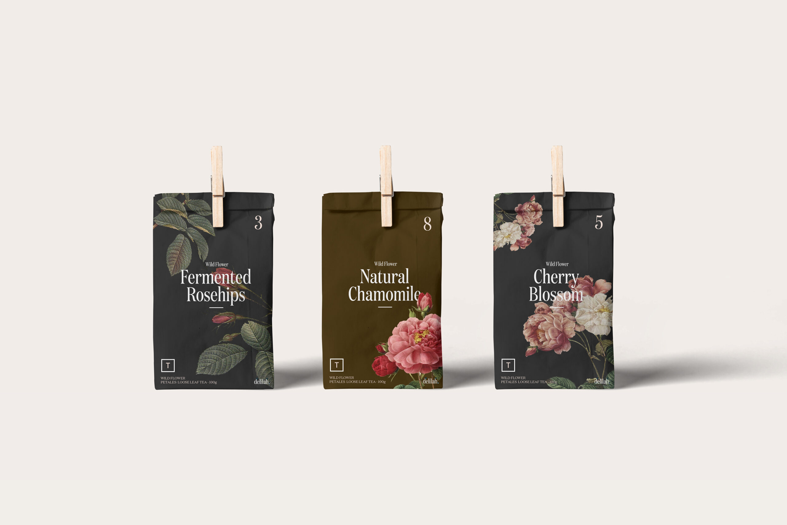 delilah - limited edition teas - the dieline