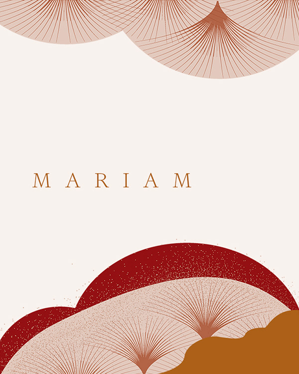 Illustration for Mariam Fashion Branding by Monograph&Co Vancouver